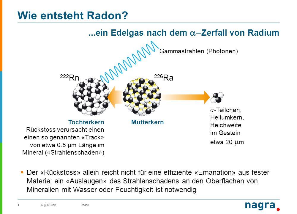 ...ein Edelgas nach dem Zerfall von Radium