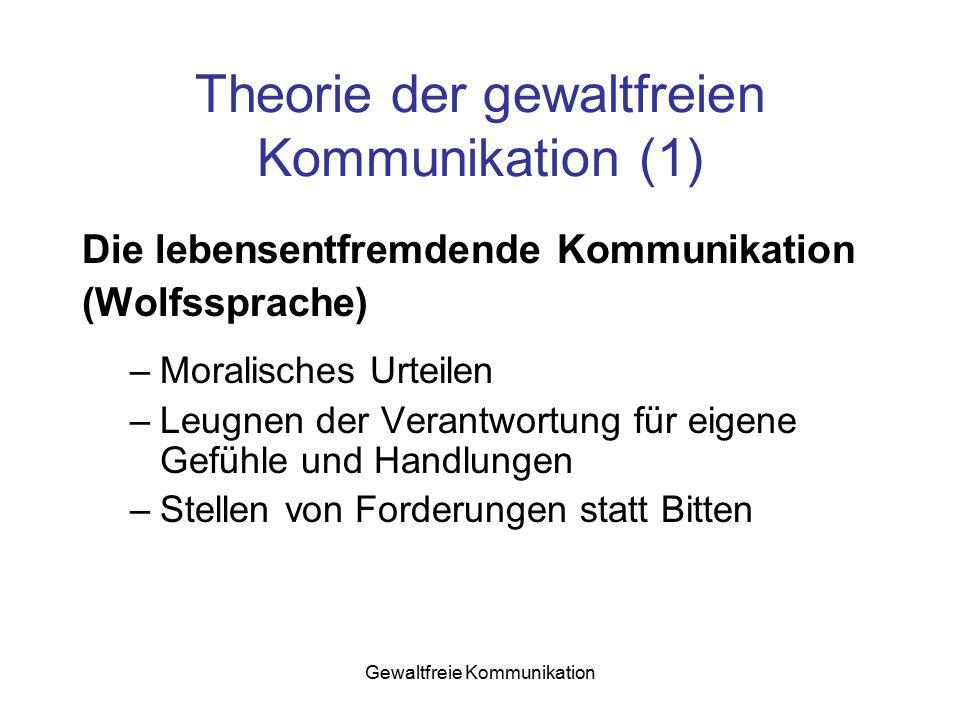Theorie der gewaltfreien Kommunikation (1)
