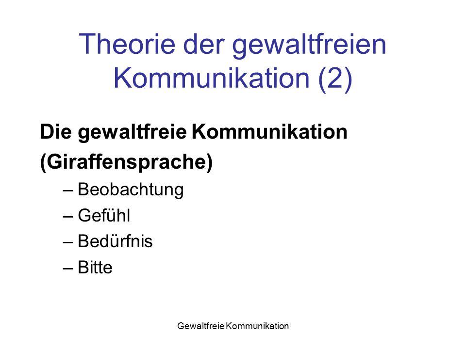Theorie der gewaltfreien Kommunikation (2)