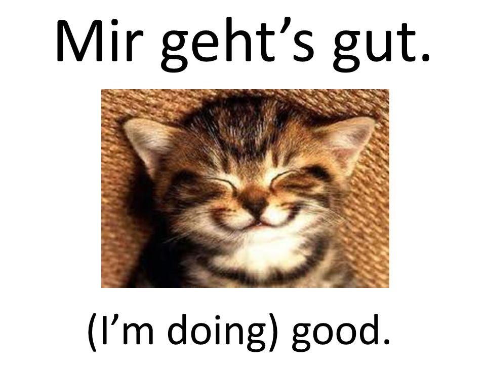 Mir geht's gut. (I'm doing) good.