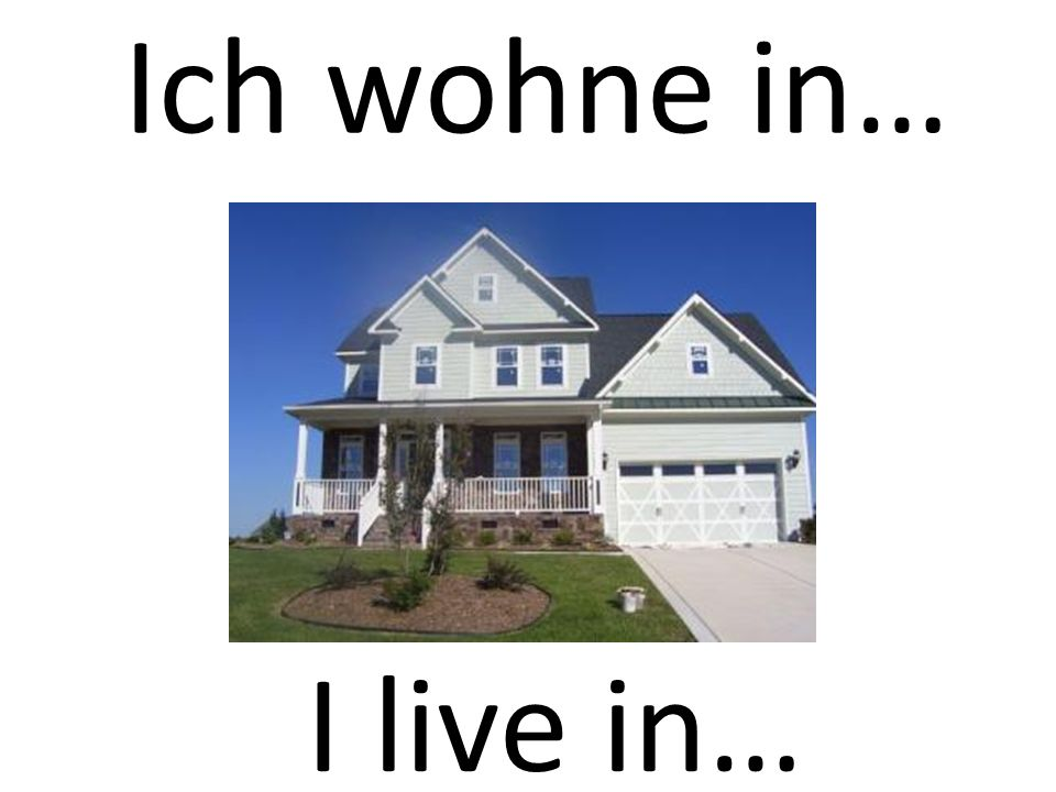 Ich wohne in… I live in…