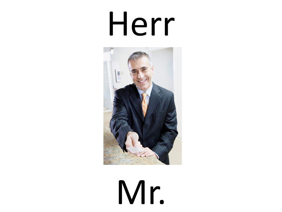 Herr Mr.
