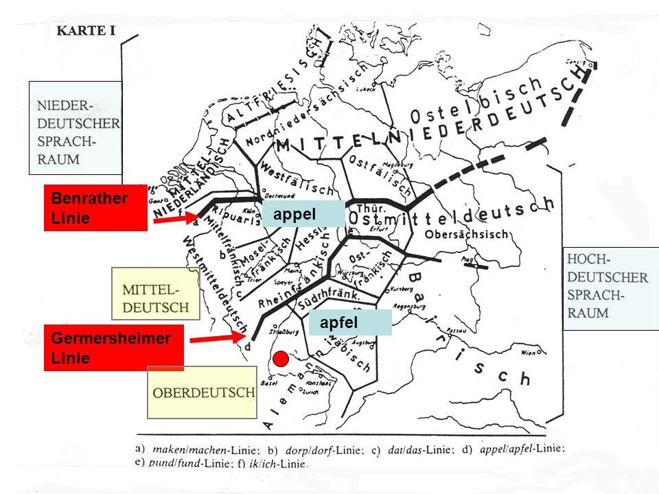 Benrather Linie appel apfel Germersheimer Linie
