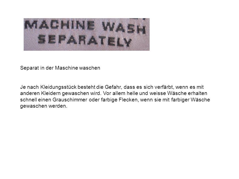 Separat in der Maschine waschen