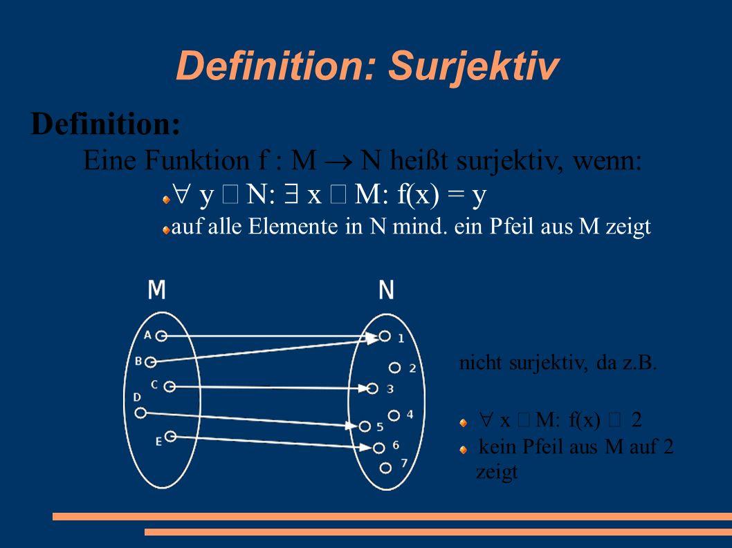 Definition: Surjektiv