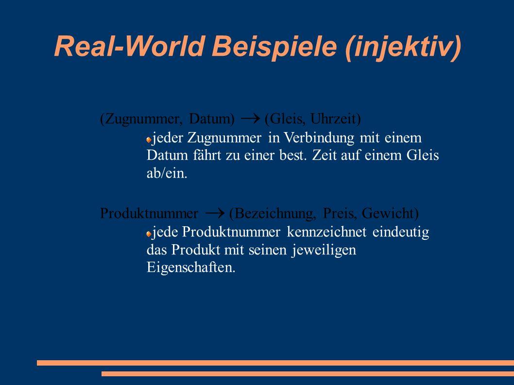 Real-World Beispiele (injektiv)