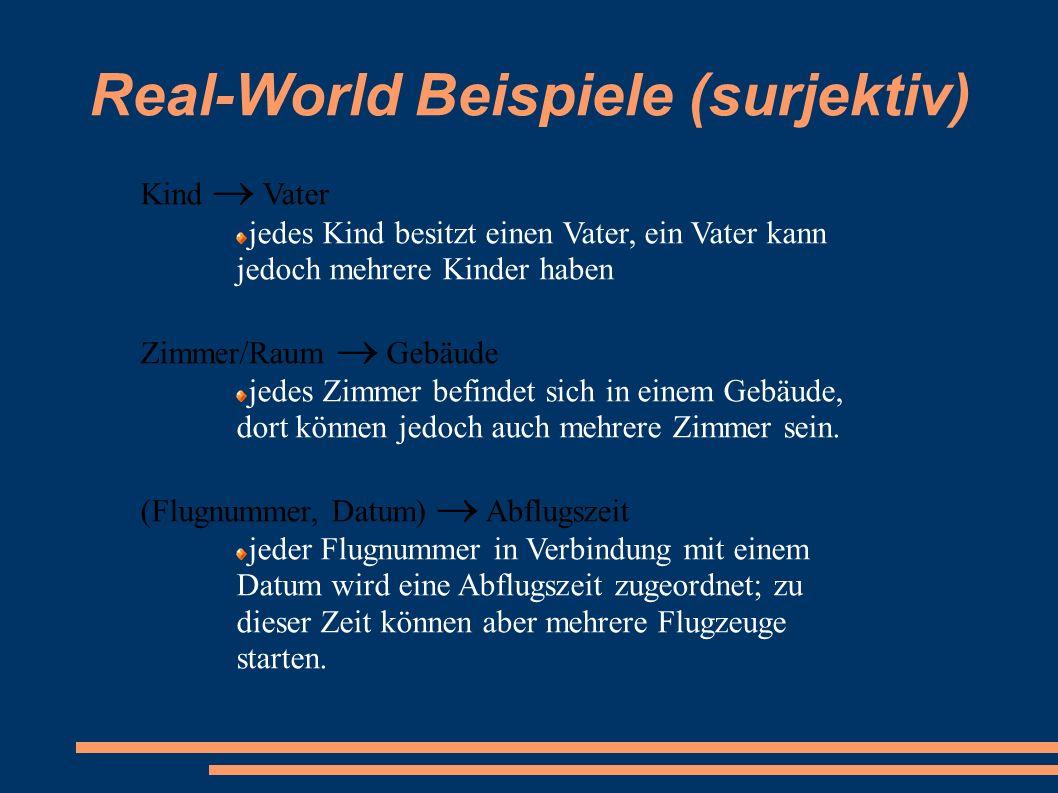 Real-World Beispiele (surjektiv)