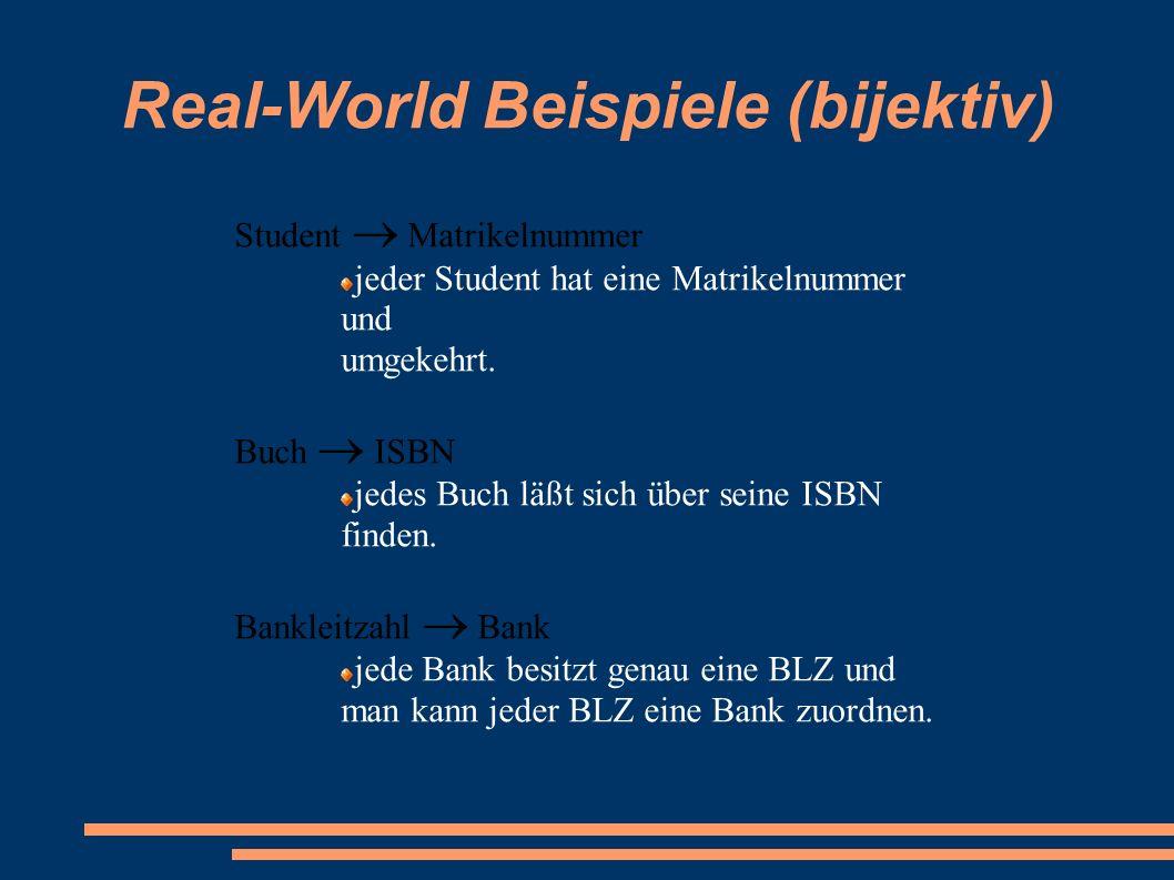 Real-World Beispiele (bijektiv)