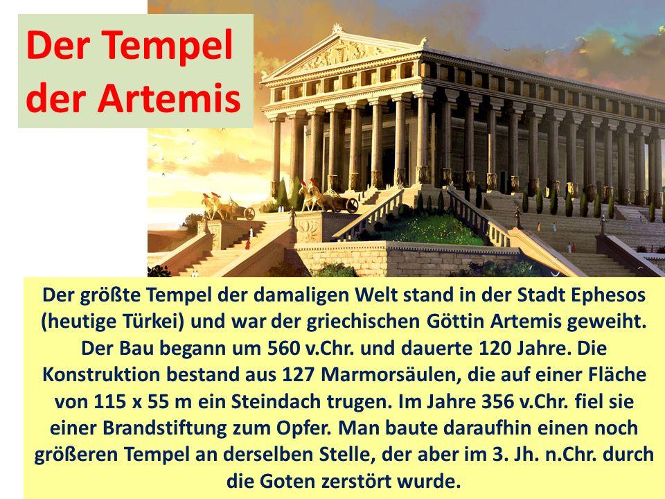 Der Tempel der Artemis.