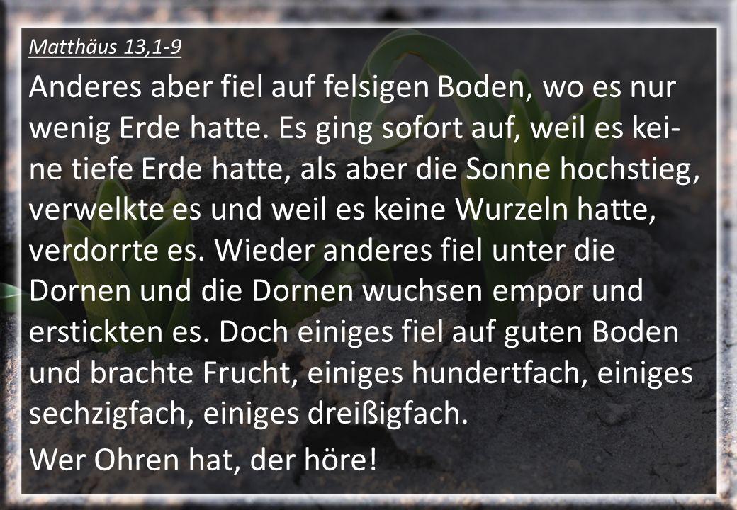 Matthäus 13,1-9