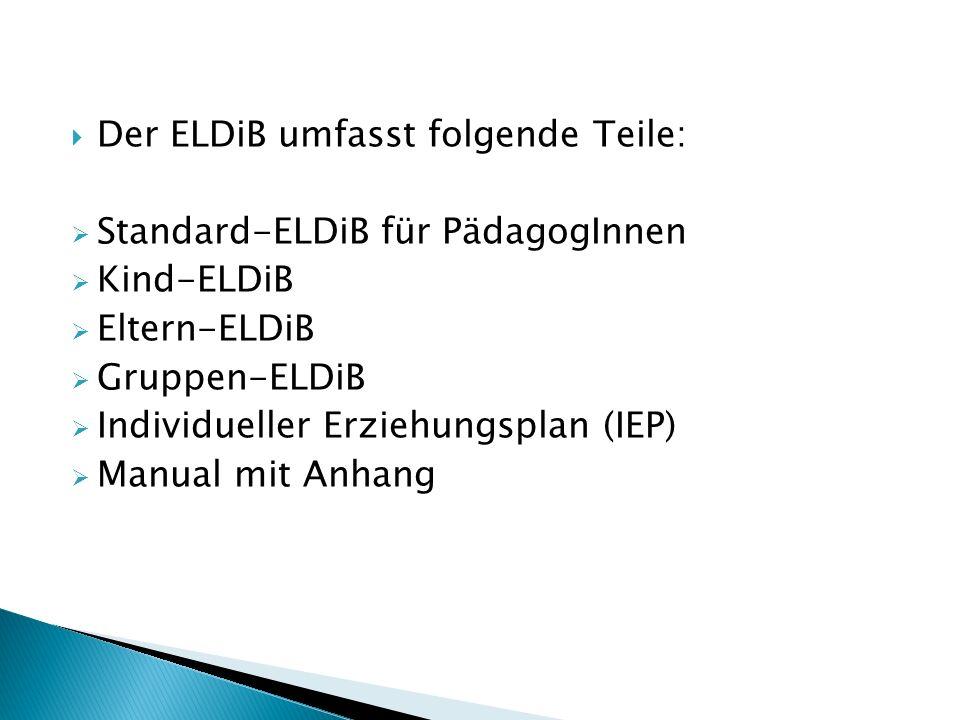 Der ELDiB umfasst folgende Teile: