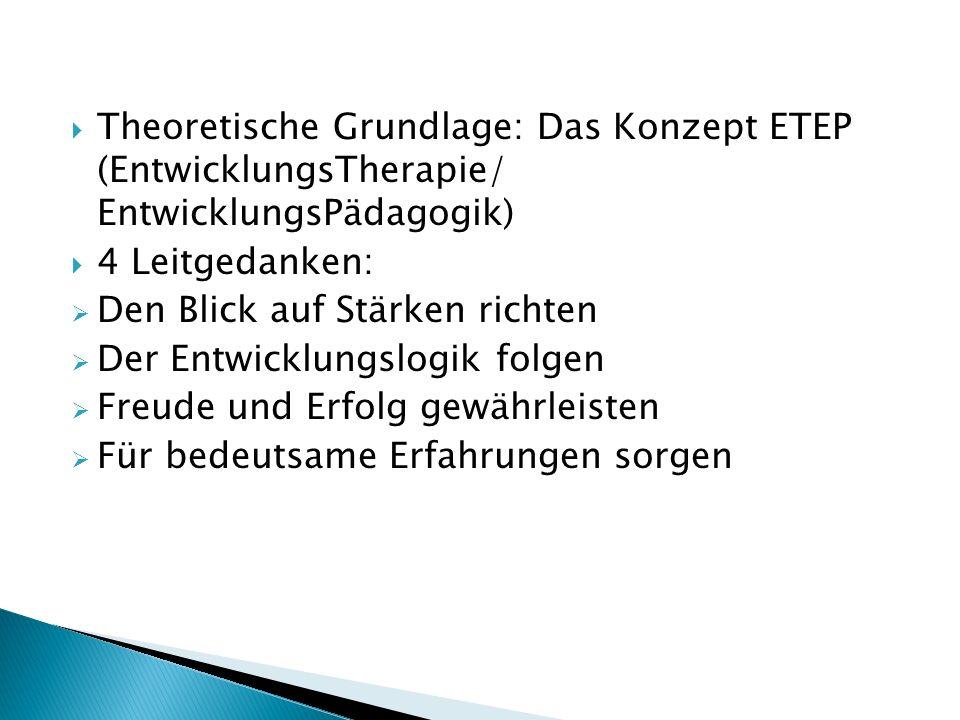 Theoretische Grundlage: Das Konzept ETEP (EntwicklungsTherapie/ EntwicklungsPädagogik)