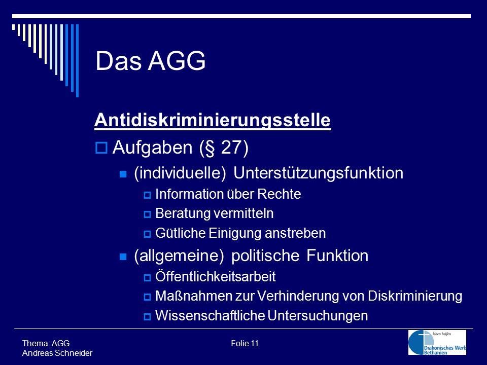 Das AGG Antidiskriminierungsstelle Aufgaben (§ 27)