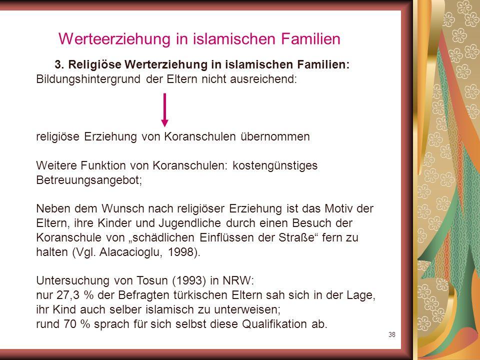 Werteerziehung in islamischen Familien