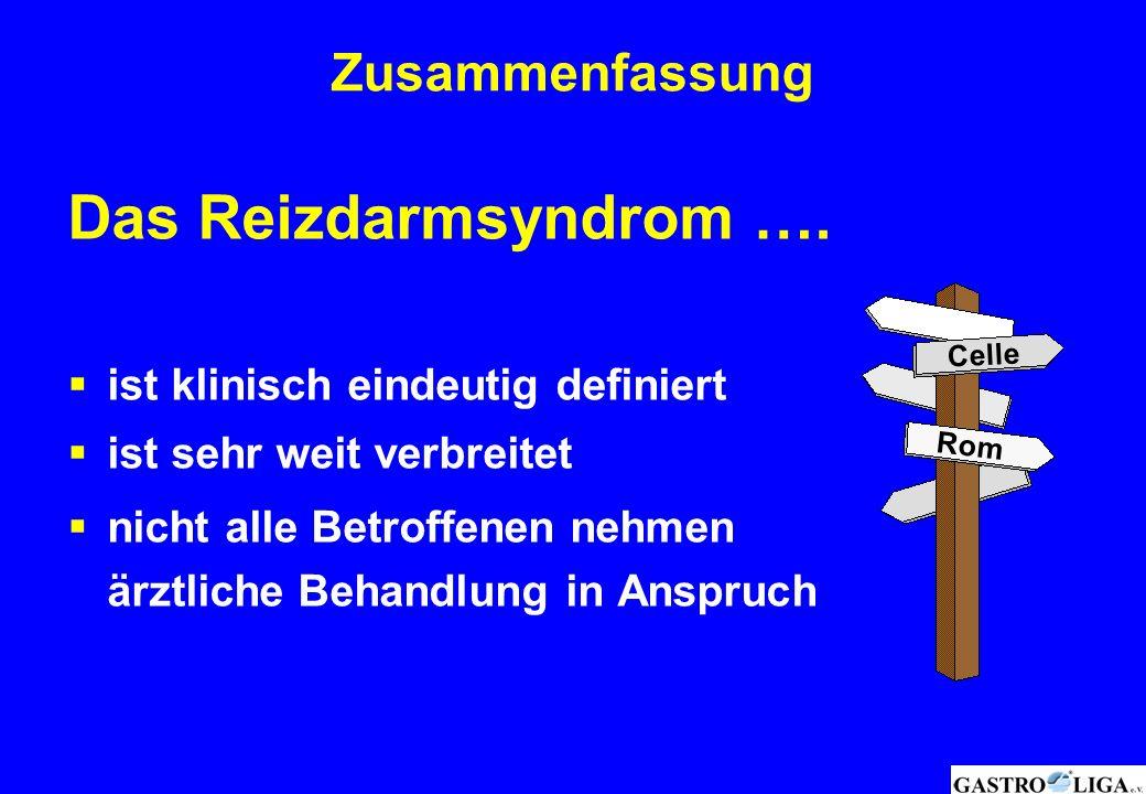 Das Reizdarmsyndrom …. Zusammenfassung
