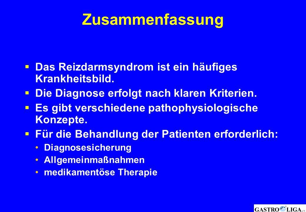 Zusammenfassung Das Reizdarmsyndrom ist ein häufiges Krankheitsbild.