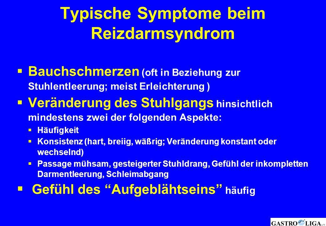 Typische Symptome beim Reizdarmsyndrom