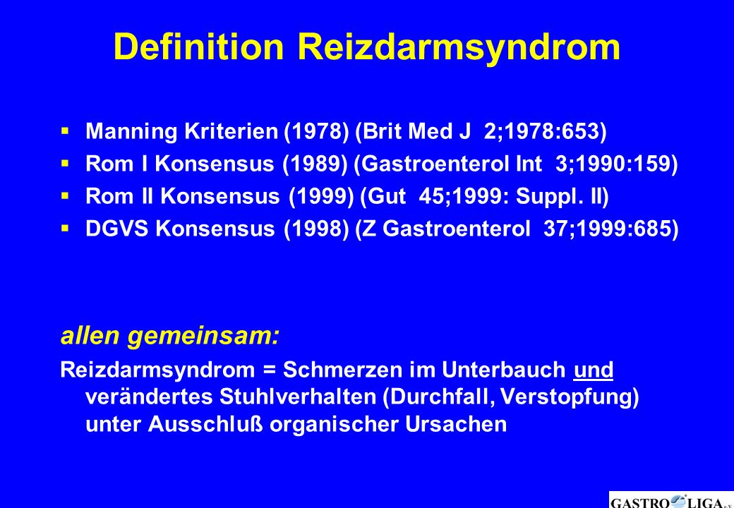 Definition Reizdarmsyndrom