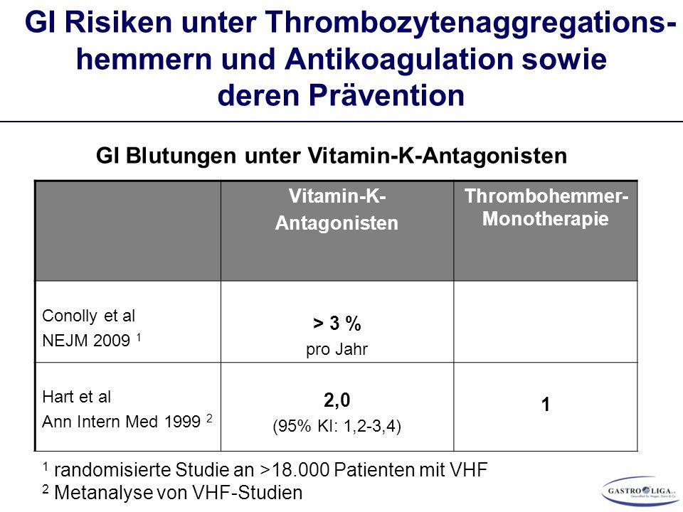 Thrombohemmer-Monotherapie