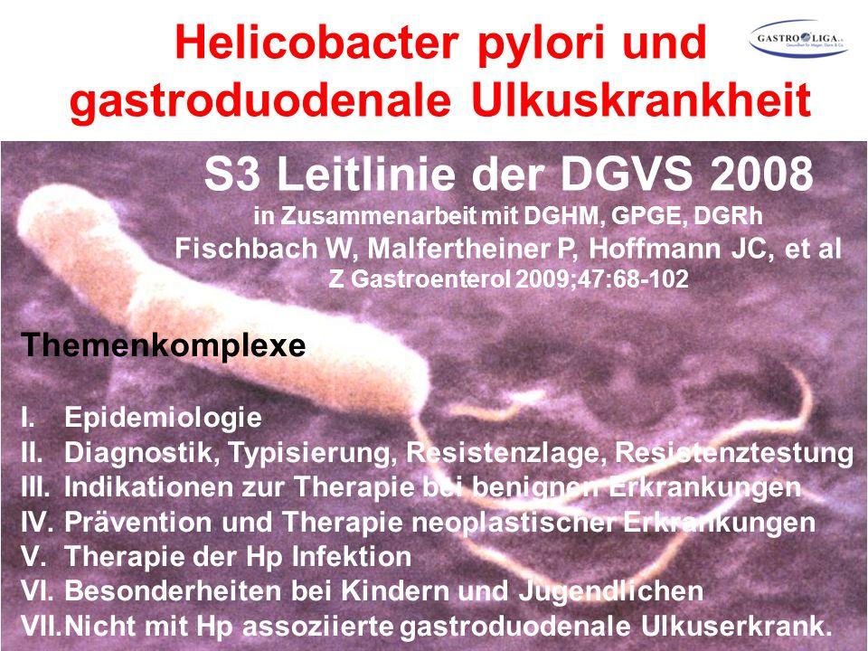 Helicobacter pylori und gastroduodenale Ulkuskrankheit