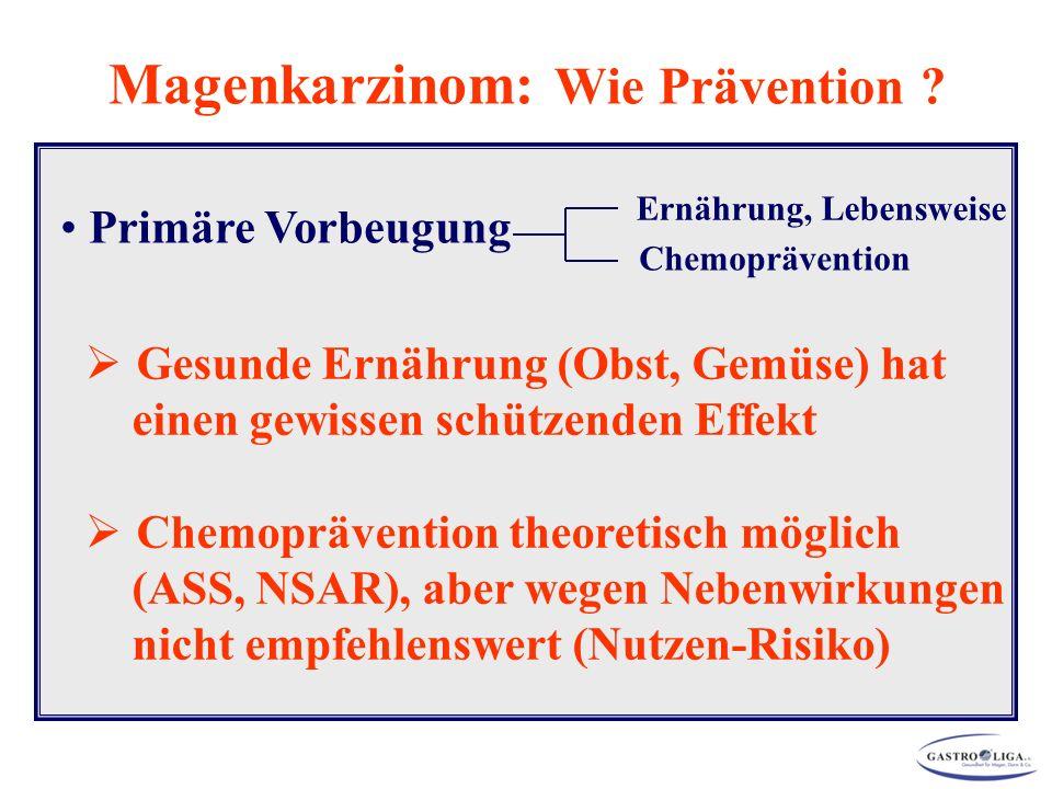 Magenkarzinom: Wie Prävention