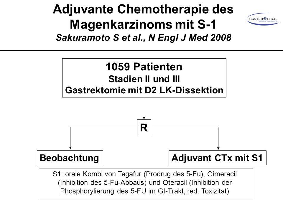 Gastrektomie mit D2 LK-Dissektion