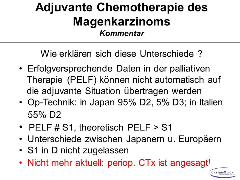 Adjuvante Chemotherapie des Magenkarzinoms Kommentar
