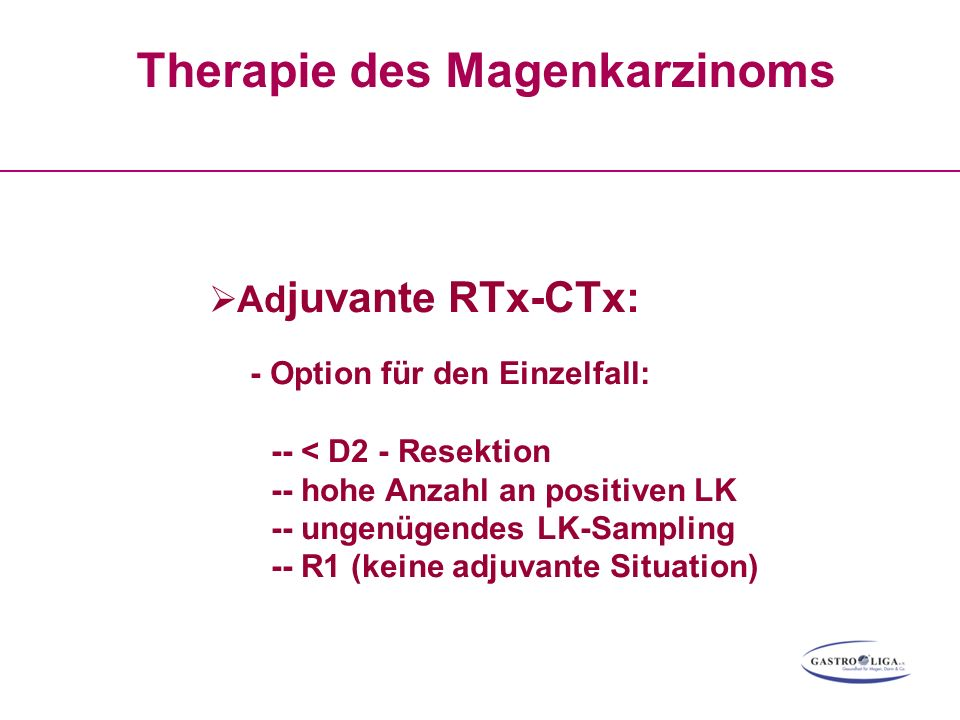 Therapie des Magenkarzinoms