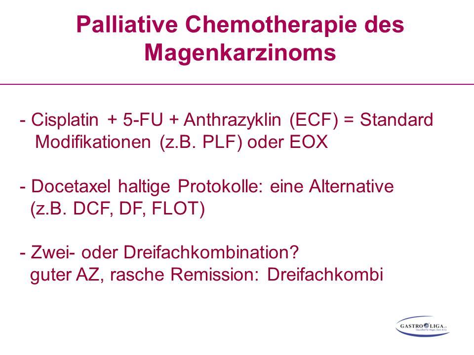 Palliative Chemotherapie des Magenkarzinoms