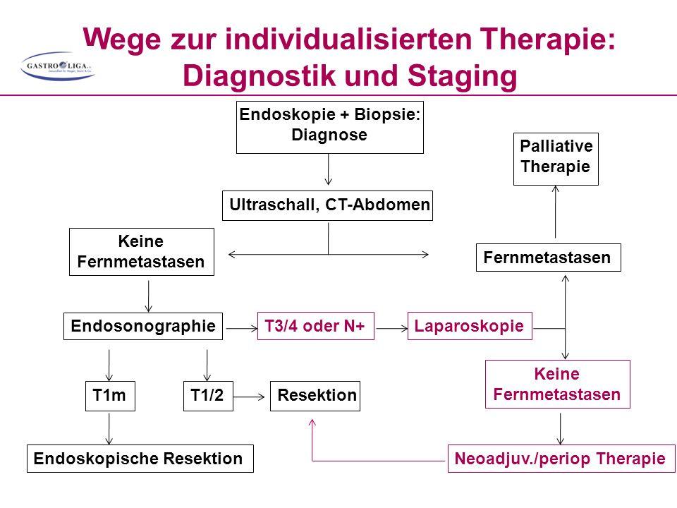 Wege zur individualisierten Therapie: Diagnostik und Staging