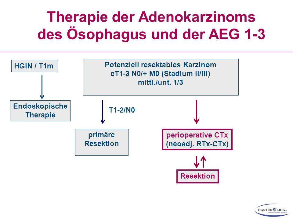 Therapie der Adenokarzinoms des Ösophagus und der AEG 1-3