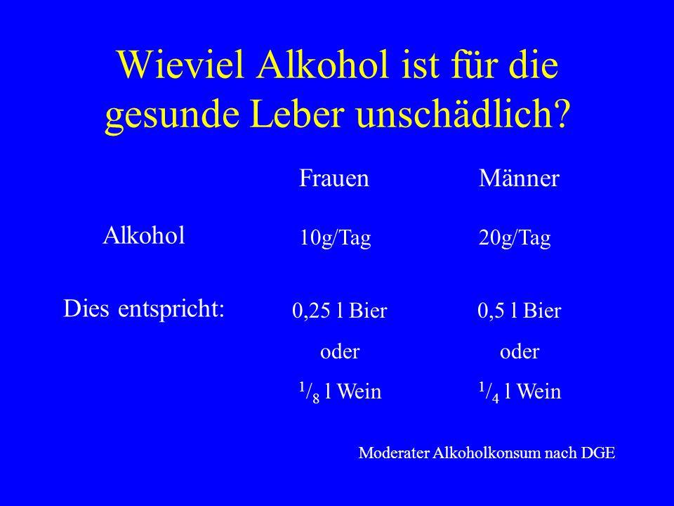 Wieviel Alkohol ist für die gesunde Leber unschädlich