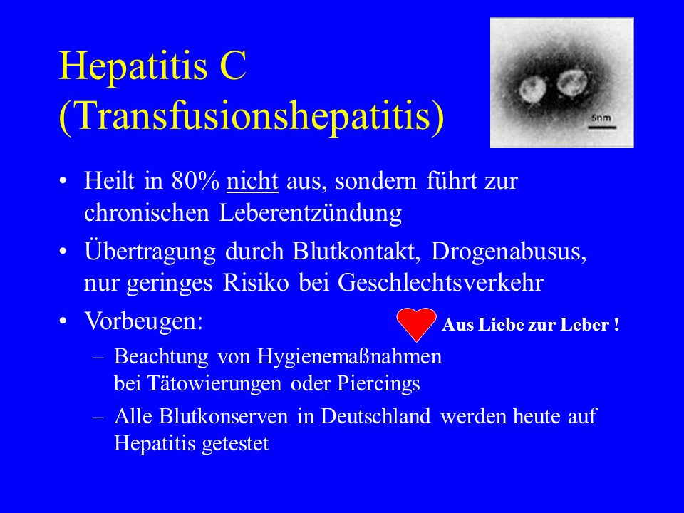 Hepatitis C (Transfusionshepatitis)