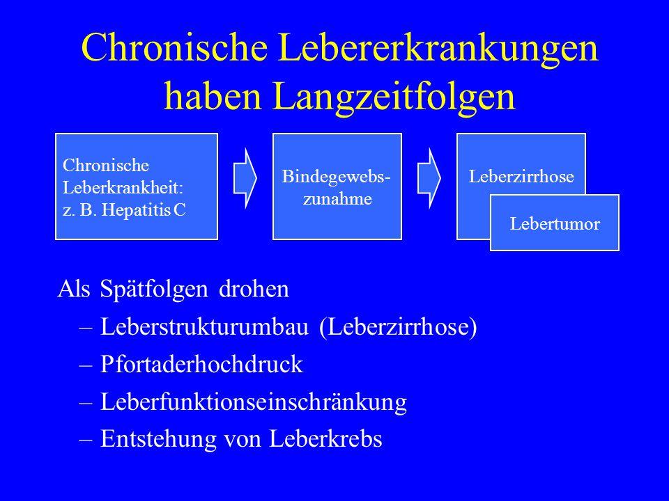 Chronische Lebererkrankungen haben Langzeitfolgen