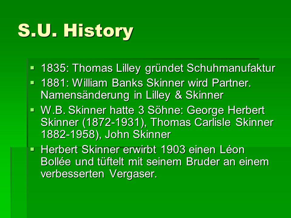 S.U. History 1835: Thomas Lilley gründet Schuhmanufaktur