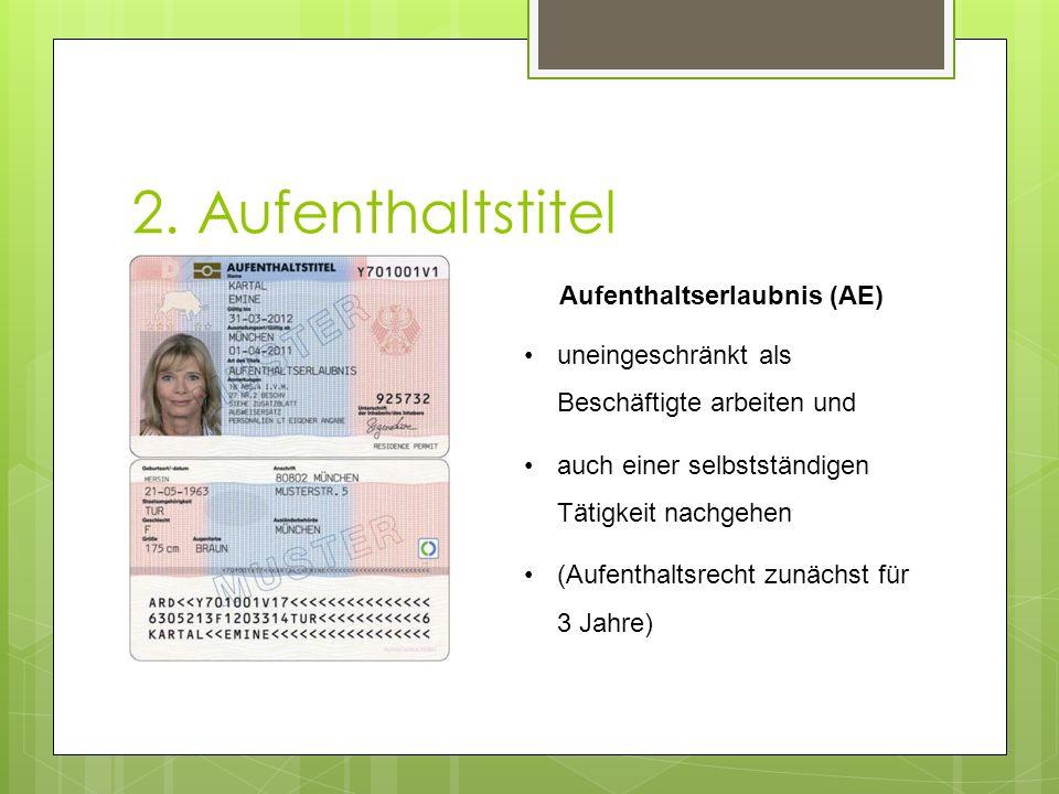 Aufenthaltserlaubnis (AE)