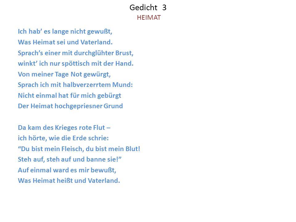 Gedicht 3 HEIMAT