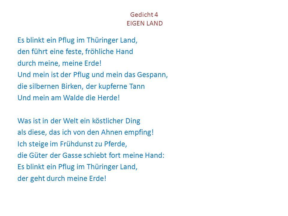 Gedicht 4 EIGEN LAND
