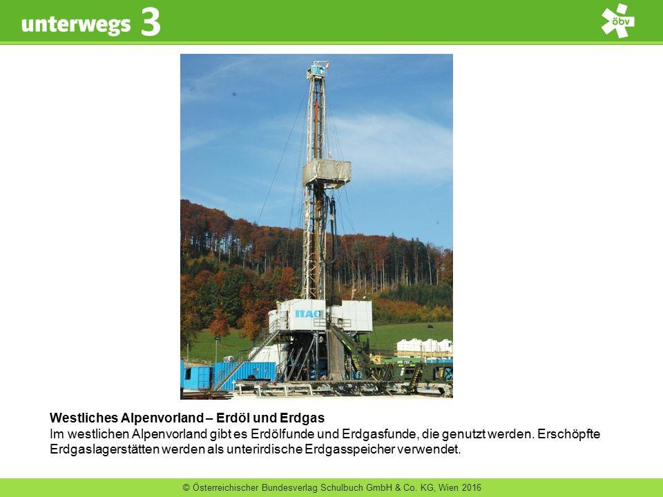 Westliches Alpenvorland – Erdöl und Erdgas