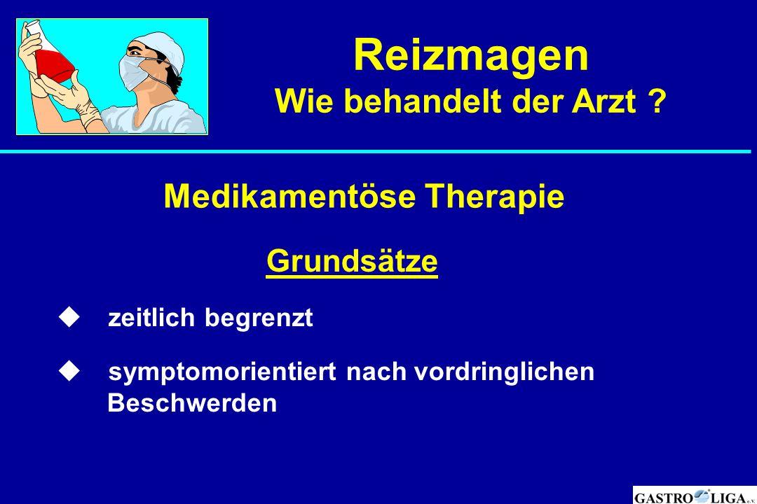 Reizmagen Wie behandelt der Arzt Medikamentöse Therapie  Grundsätze