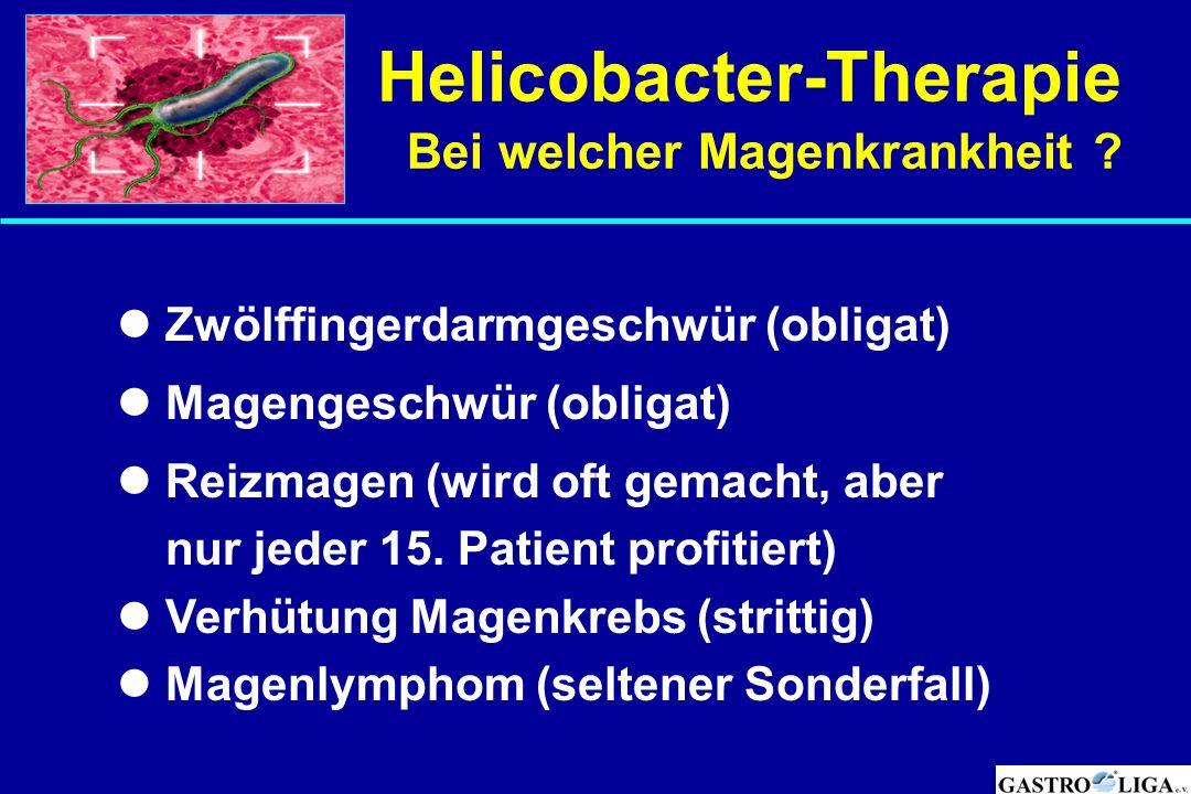 Helicobacter-Therapie Bei welcher Magenkrankheit