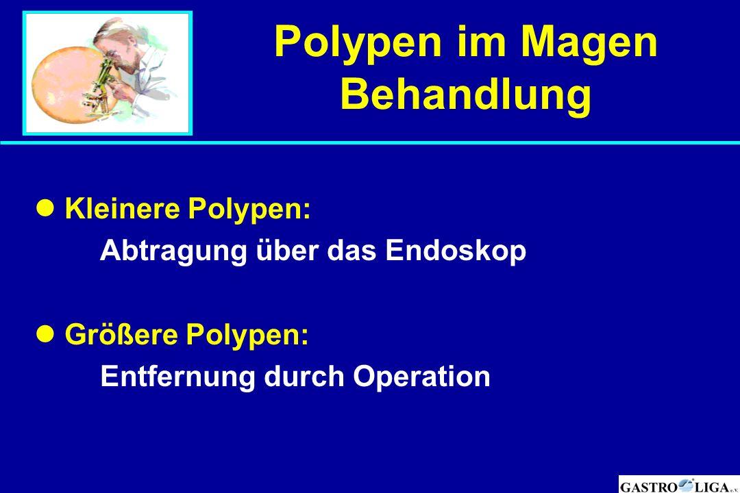 Polypen im Magen Behandlung