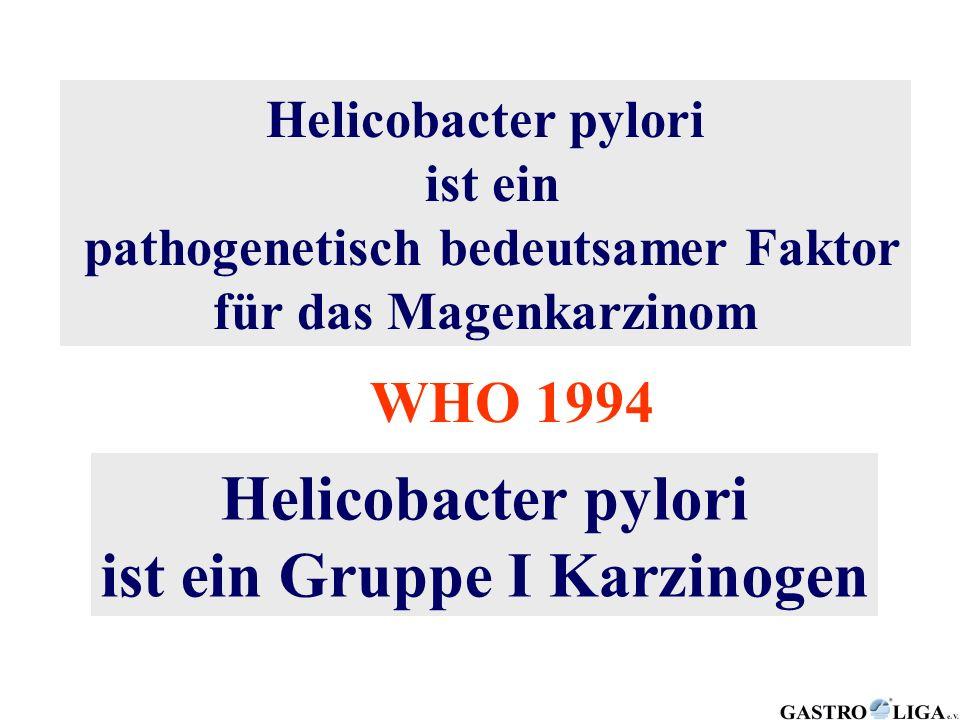 pathogenetisch bedeutsamer Faktor ist ein Gruppe I Karzinogen