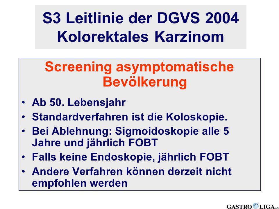 S3 Leitlinie der DGVS 2004 Kolorektales Karzinom