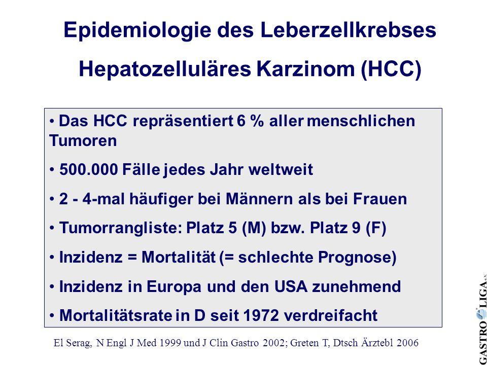 Epidemiologie des Leberzellkrebses Hepatozelluläres Karzinom (HCC)