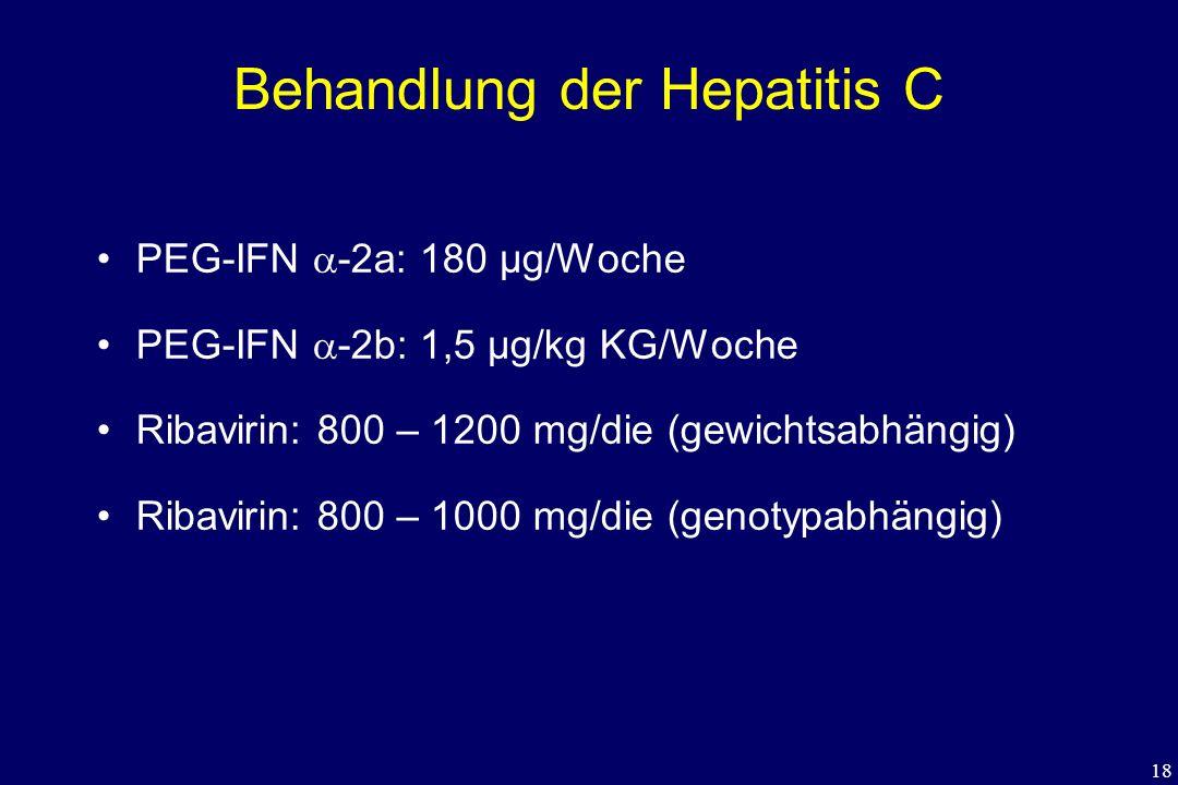 Behandlung der Hepatitis C