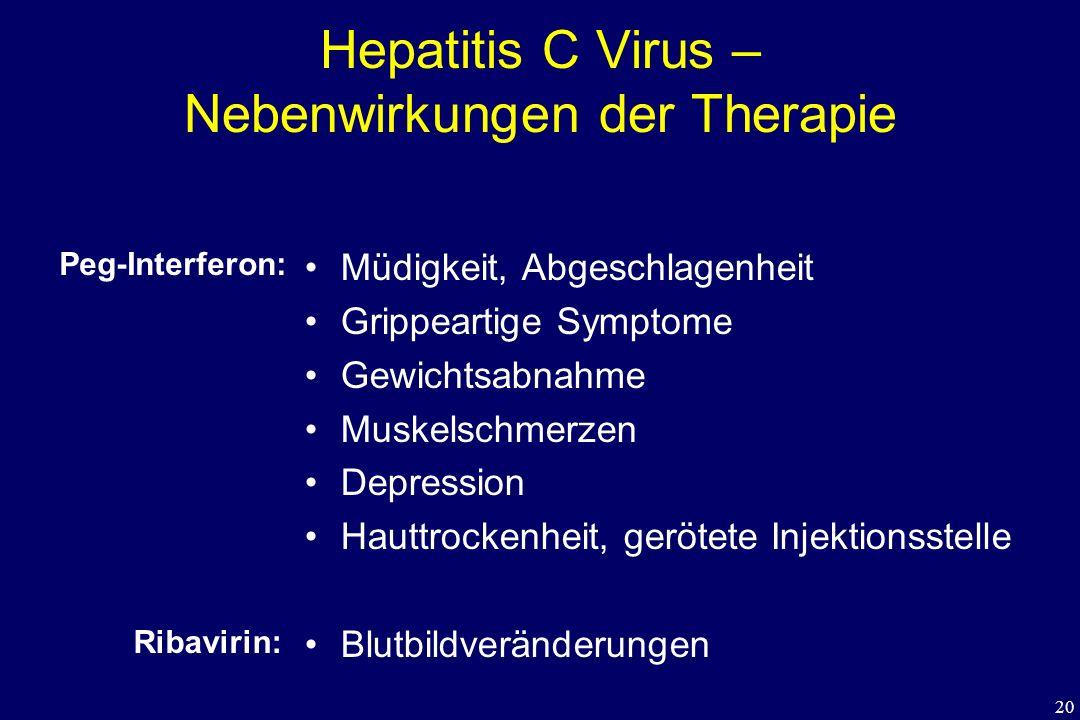 Hepatitis C Virus – Nebenwirkungen der Therapie