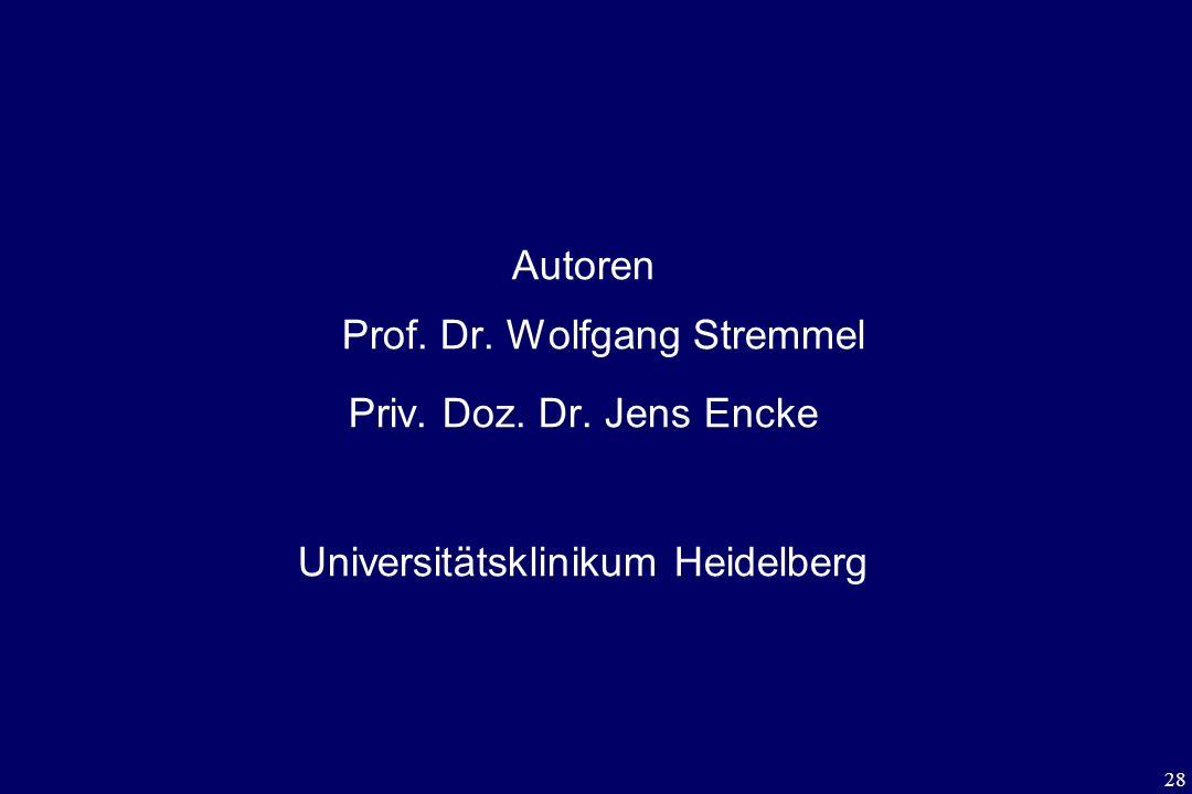 Autoren Prof. Dr. Wolfgang Stremmel