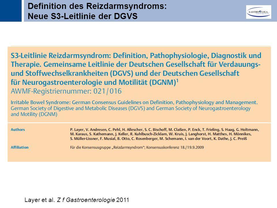 Definition des Reizdarmsyndroms: Neue S3-Leitlinie der DGVS