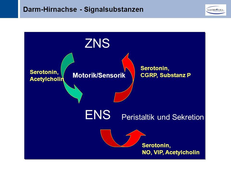 ZNS ENS Peristaltik und Sekretion Darm-Hirnachse - Signalsubstanzen